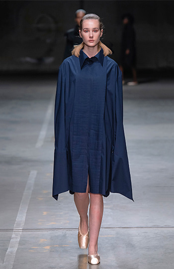 HAESUNG BONG, Shirtdress, Oversize Navy, 면 100%, Cotton 100%
