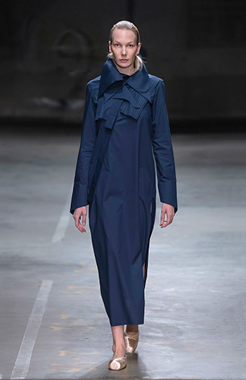 HAESUNG BONG, Shirtdress, Slim Navy, 면 100%, Cotton 100%
